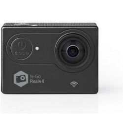 Nedis - Action-kamera Real 4K Ultra HD, Wi-Fi, Vandtæt etui TILBUD NU