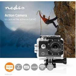 Nedis - Actionkamera Full HD 1080p, Wi-Fi, Vandtæt etui TILBUD NU