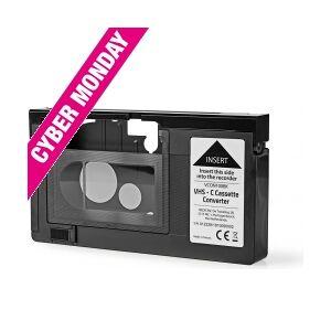 Nedis - HQ VHS-C til VHS båndadapter (Elektrisk styret) TILBUD NU into