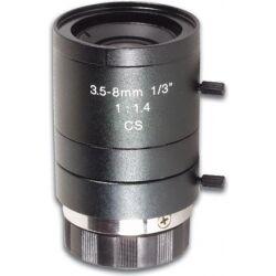 CCD zoomlinse F1,4 / 3,5-8mm (2,3x zoom) TILBUD NU