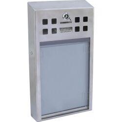 Europalms Ashtray WINDOW, stainless steel asketrævindue askebæger rustfrit stål