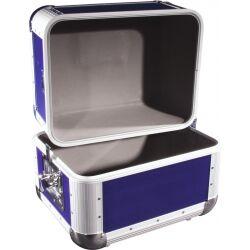 Roadinger Record Case ALU 50/50, rounded, dark blue tilfælde afrundet mørkblå