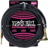 Ernie Ball EB-6086 Instrument Cable, Superior braided cable, black TILBUD NU