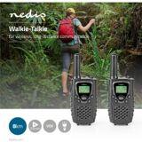 Nedis Walkie talkie   8 km rækkevidde   8 kanaler   VOX   2 stk.   Sort, WLTK080
