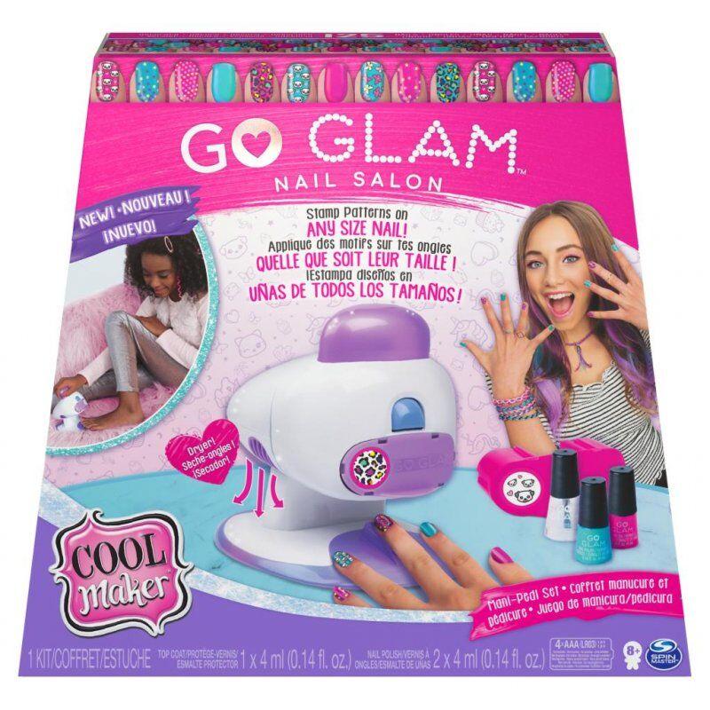 Go Glam Negleprinter Og Neglelak Sæt - Deluxe Negle Salon