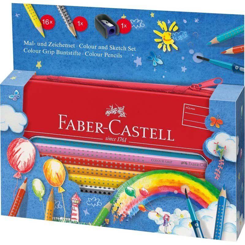 Faber Castell Grip Farveblyanter Med Pensel