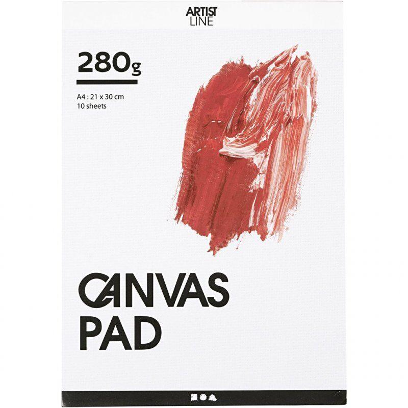 Canvas Pad - Lærredsblok Til Akryl Og Oliemaling - A4