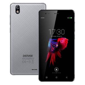 """Denver Mobiltelefon- 5,5"""" Display - 8mp Kamera - 16gb - Sdq-55024l - Grå"""