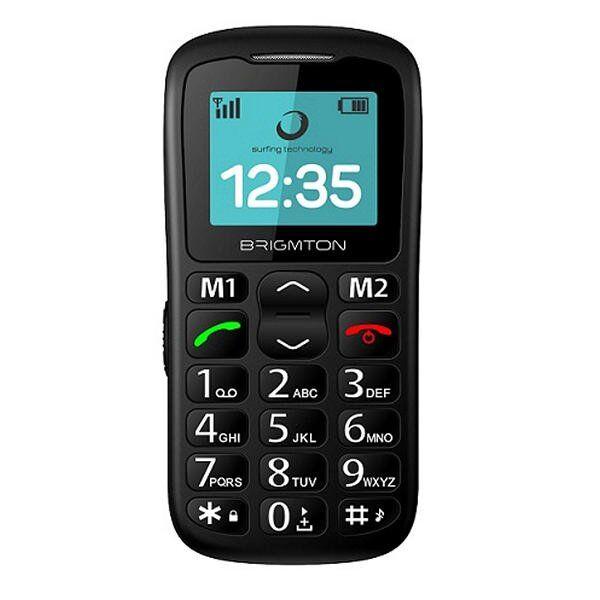 """Brigmton - Mobiltelefon Til ældre - Btm-11 Senior - 1,77"""" Display - Sort"""