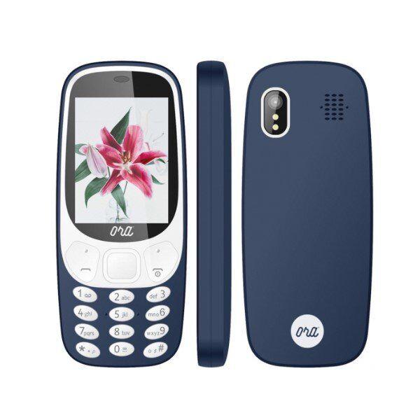 """Ora Kira N2401 Mobiltelefon Med Radio - 2,4"""" Display - Blå"""