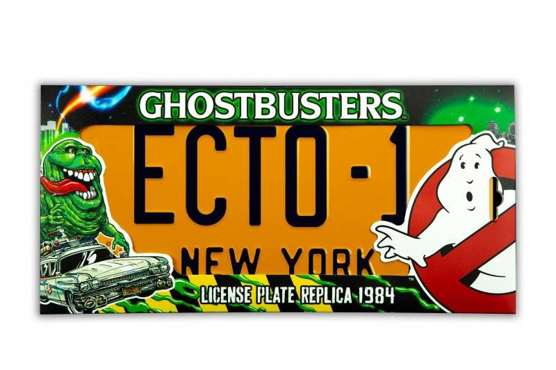 Ghostbusters - Ecto-1 License Plate - Nummerplade Replica