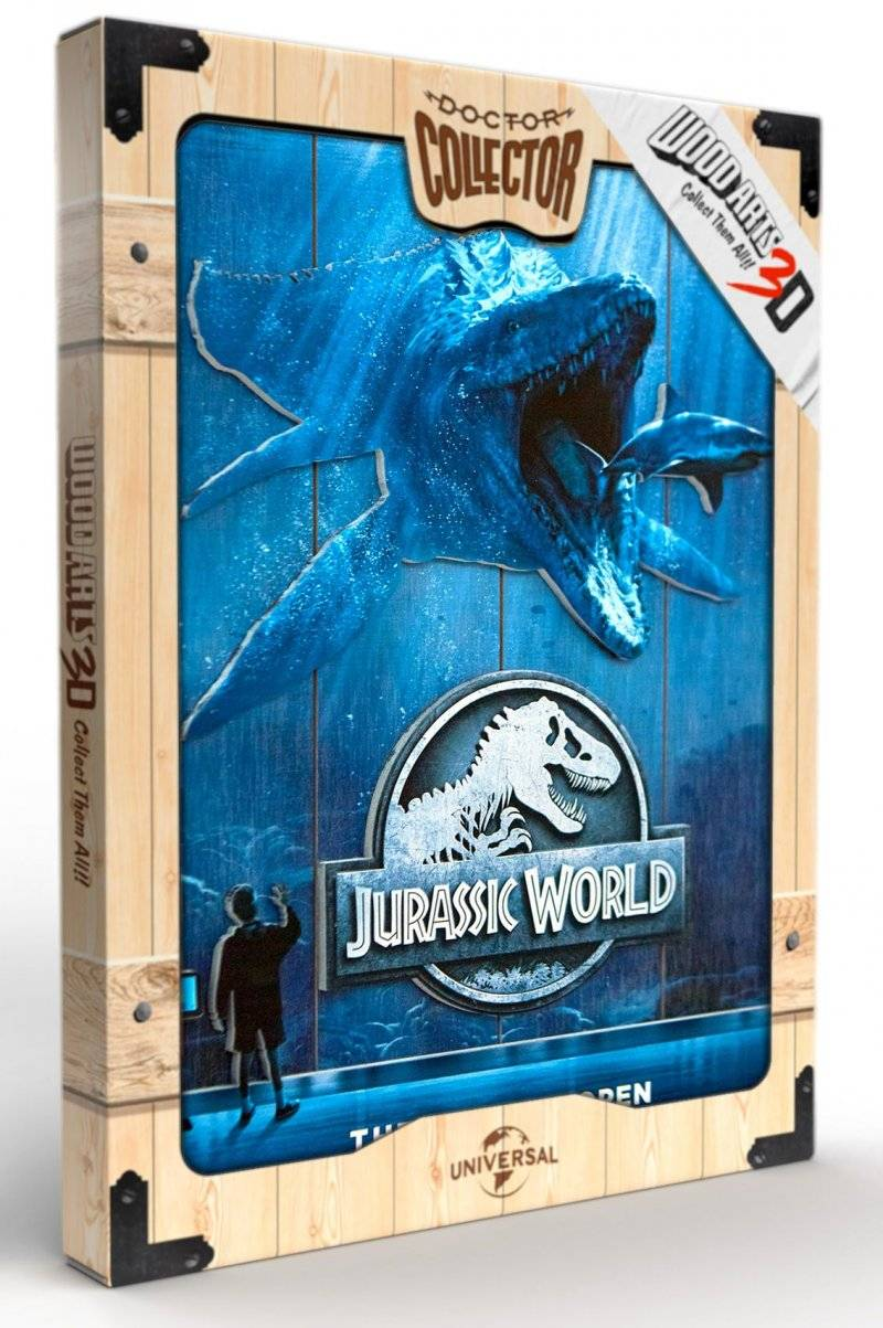 Jurassic World - Mossa - Plakat I Træ