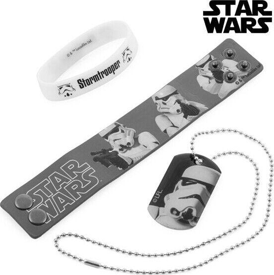 Star Wars - Armbånd Og Halskæde Sæt - Grå