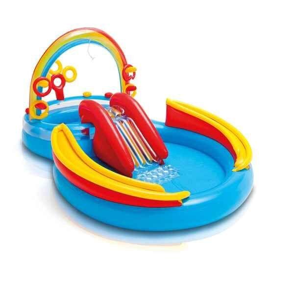 Badebassin Til Børn Med Rutsjebane - Intex - 206 L