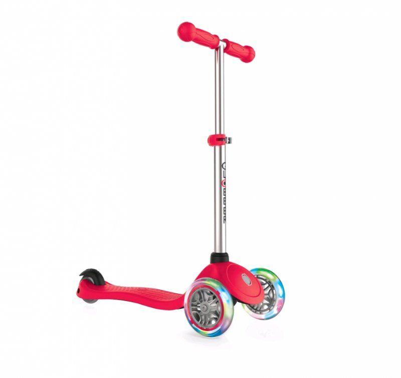 Globber Løbehjul Med Lys - Primo V2 - Rød
