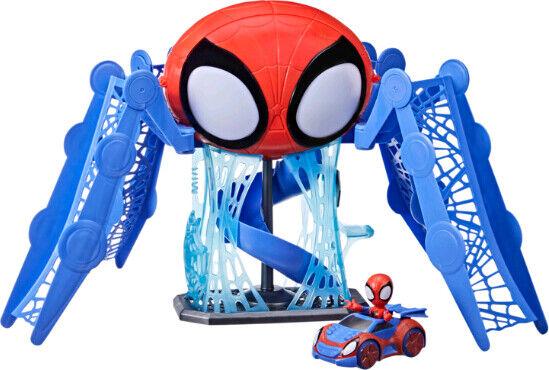 Spiderman Legetøj - Webquarters Med Spiderman Figur