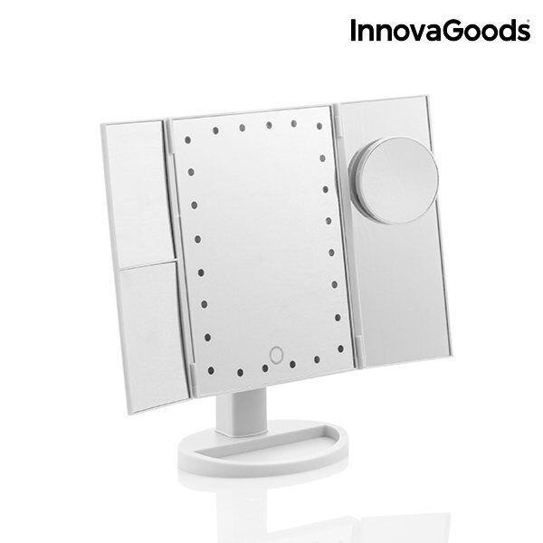 Innovagoods 4-i-1 Makeupspejl Med Lys Og Forstørrelsesglas
