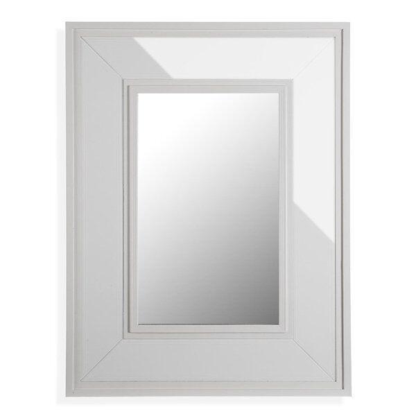Vægspejl Med Ramme - Hvid