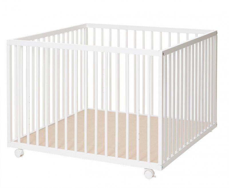 Baby Dan Comfort Stor Kravlegård I Hvid - 99x99x73 Cm.