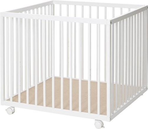 Baby Dan - Kravlegård - 79x79 Cm. - Hvid