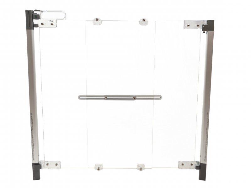 Babytrold - Sikkerhedsgitter - Safegate Clear-view Hardware Babygitter - 75-100 Cm