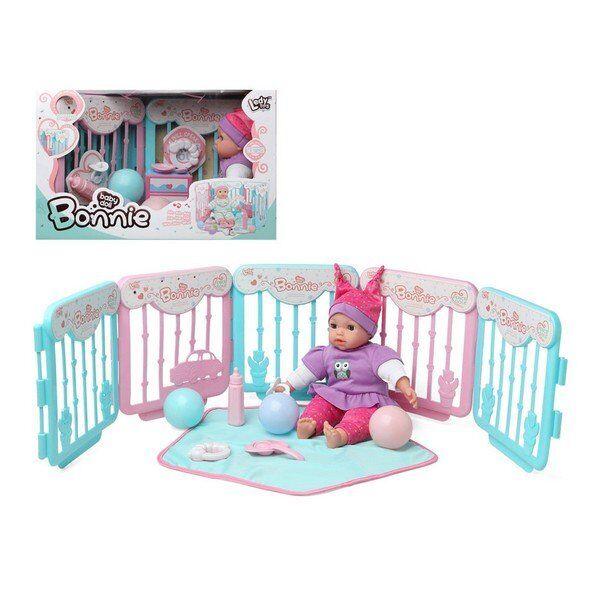Bonnie - Baby Dukke Med Lyd Inkl. Kravlegård Og Tæppe