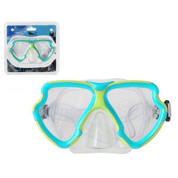 Dykkerbriller Med Næse Til Voksne - Blå Grøn