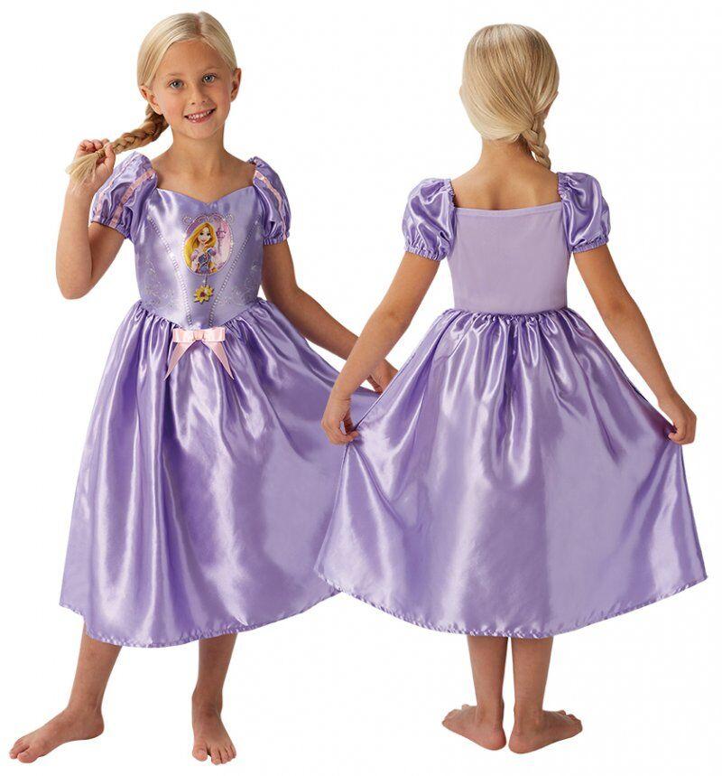Rapunzel Kjole Kostume Til Børn - Disney Prinsesse - Large