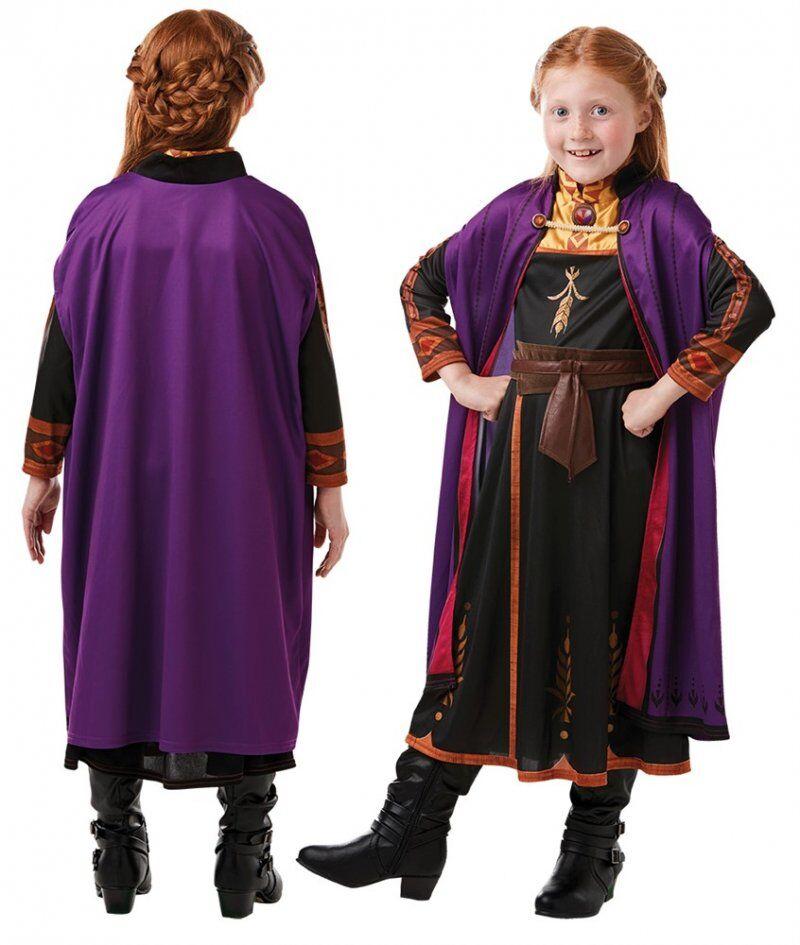 Anna Kjole - Frost Kostume Til Børn - Str. 104 Cm
