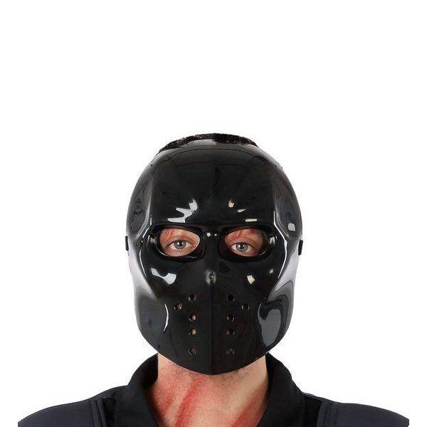 Hockey Maske Til Halloween - Sort