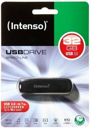 Intenso - Usb 3.0 Stik - 32gb - 70mb/s - Sort