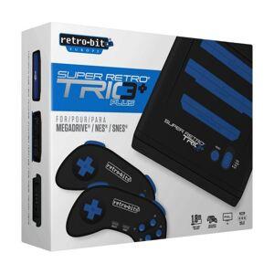 Retro-bit Super Retro Trio 3+ Konsol Til Mega Drive, Nes Og Snes Spil - Sort