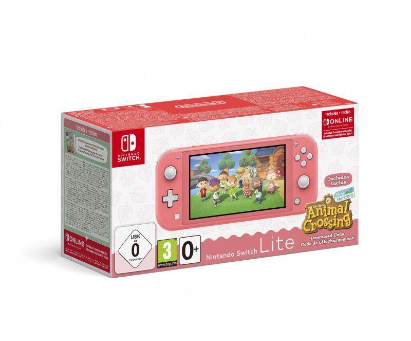Nintendo Switch Lite - Animal Crossing + 3m Online - Koral