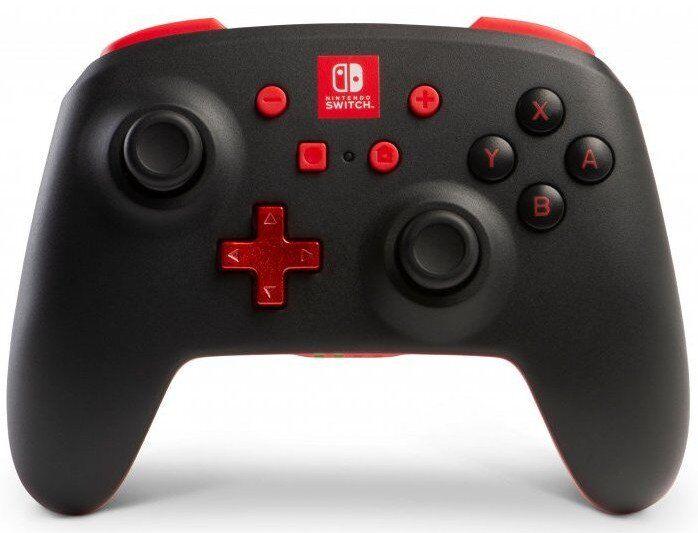 Powera - Enhanced - Trådløs Gamepad Controller Til Nintendo Switch - Sort