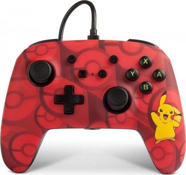 Nintendo Power A - Nintendo Switch Controller - Pikachu Rød