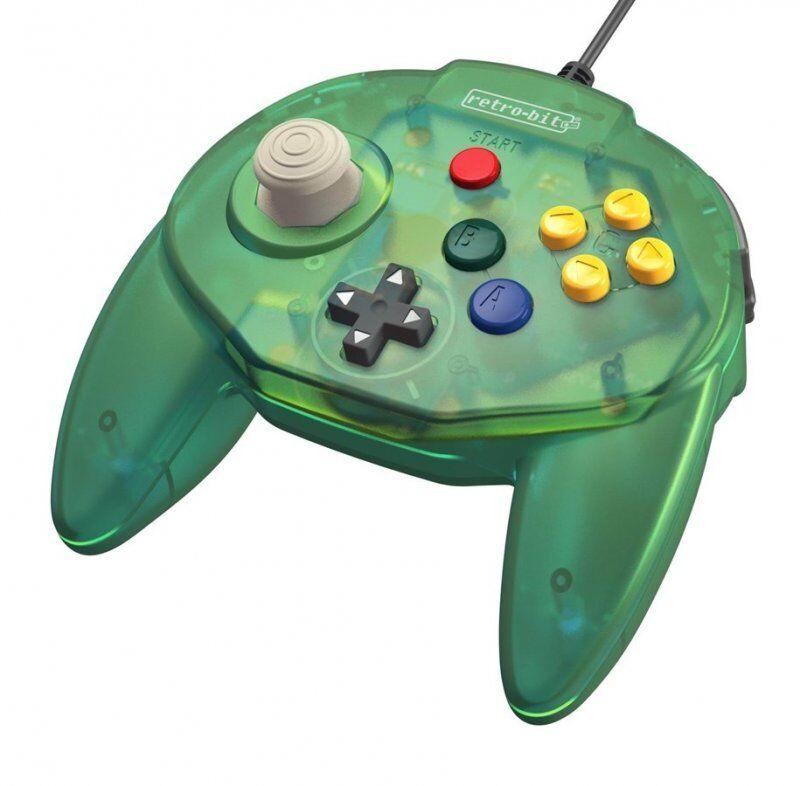 Retro-bit - Tribute 64 - Gamepad Controller Med Usb Til Nintendo 64 - Grøn