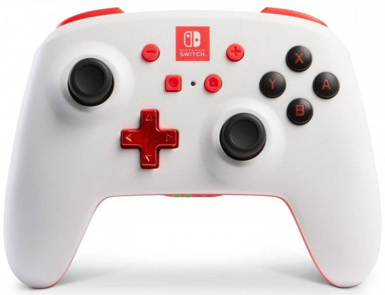 Powera - Enhanced - Trådløs Gamepad Controller Til Nintendo Switch - Hvid