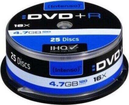 Intenso Brændbar Dvd+r 16x - 4,7 Gb - 25 Stk.