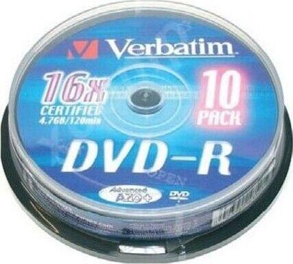 Verbatim Brændbar Dvd-r 16x - 4,7gb - 10 Stk.