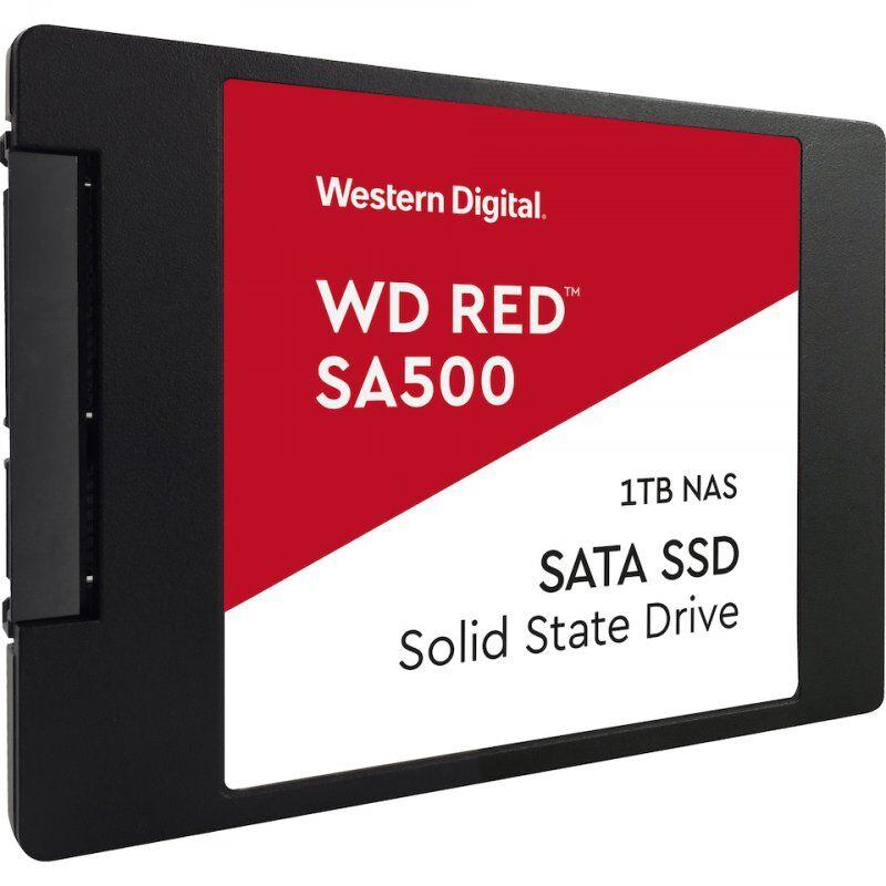 "Western Digital Wd - Red Ssd Harddisk 2.5"" - 1tb Nas - Sort Rød"