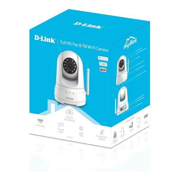 D-Link - Wifi Ip Kamera Til Overvågning - Dcs-8525lh - Fuld Hd - Hvid