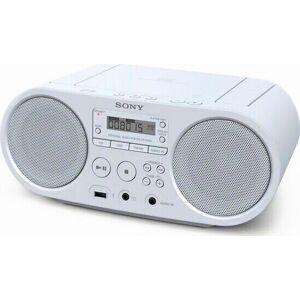 Sony Zs-ps50 Am/fm Radio Med Cd-afspiller I Hvid