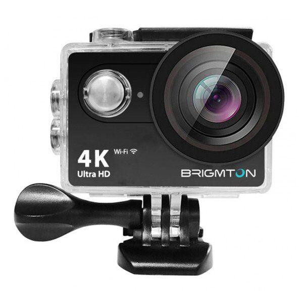 Brigmton - Action Kamera Sæt - 4k - Wifi - 30 M Vandtæt - Bsc-10-hd4k - Sort