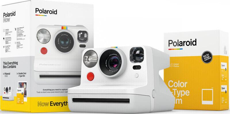 Polaroid - Now Kamera Inkl. Farve I-type Film - Hvid