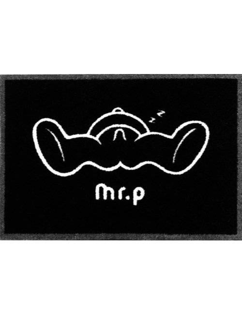 Sjov Dørmåtte Med Motiv - Mr. P Sleepy Zzzz - Sort