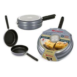 Quittin - Omelet Stegepande Til Induktion - 24 Cm - Sort Stål