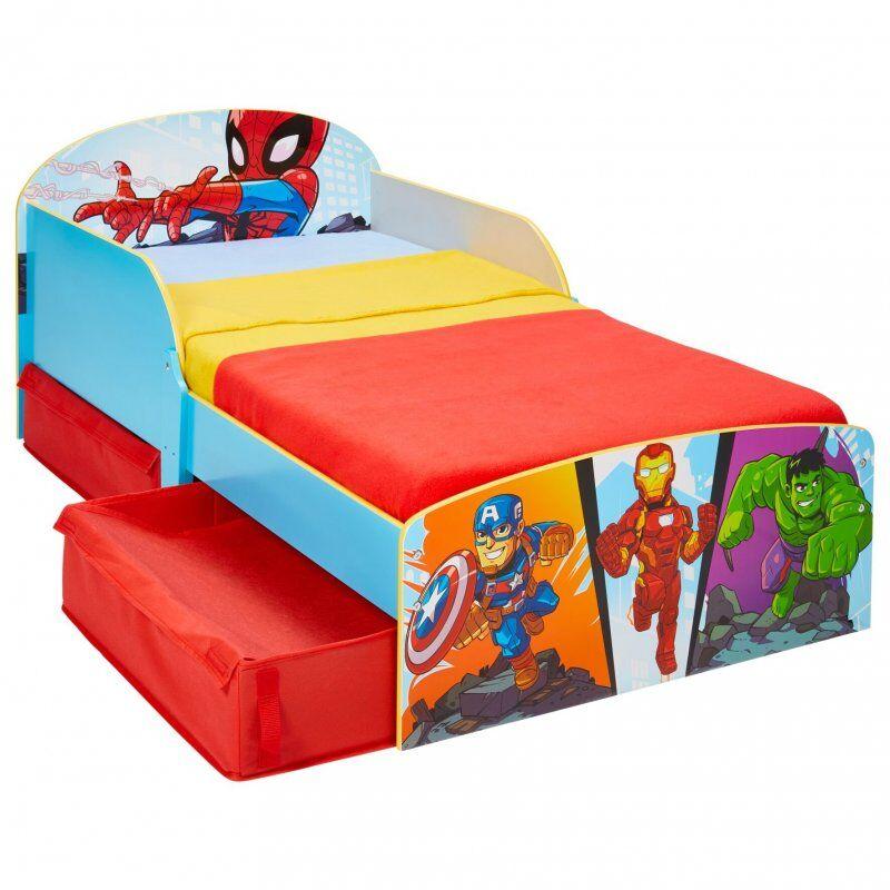 Marvel Juniorseng Med Opbevaring - 140x70 Cm - Superhelte