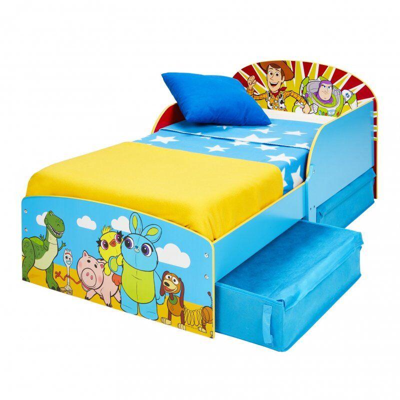 Toy Story 4 Seng - Juniorseng Med Opbevaring - 140x70 Cm