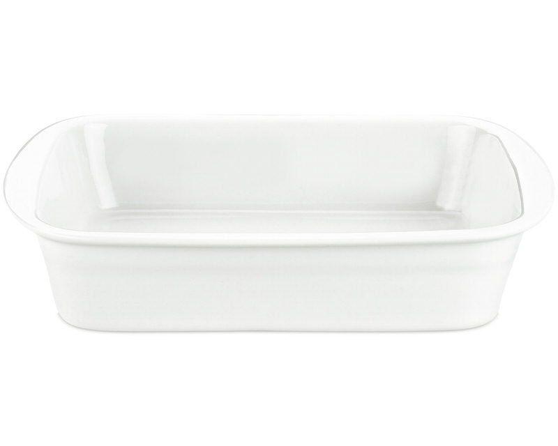 Pillivuyt Lasagnefad Medium I Hvid - 34x25 Cm.