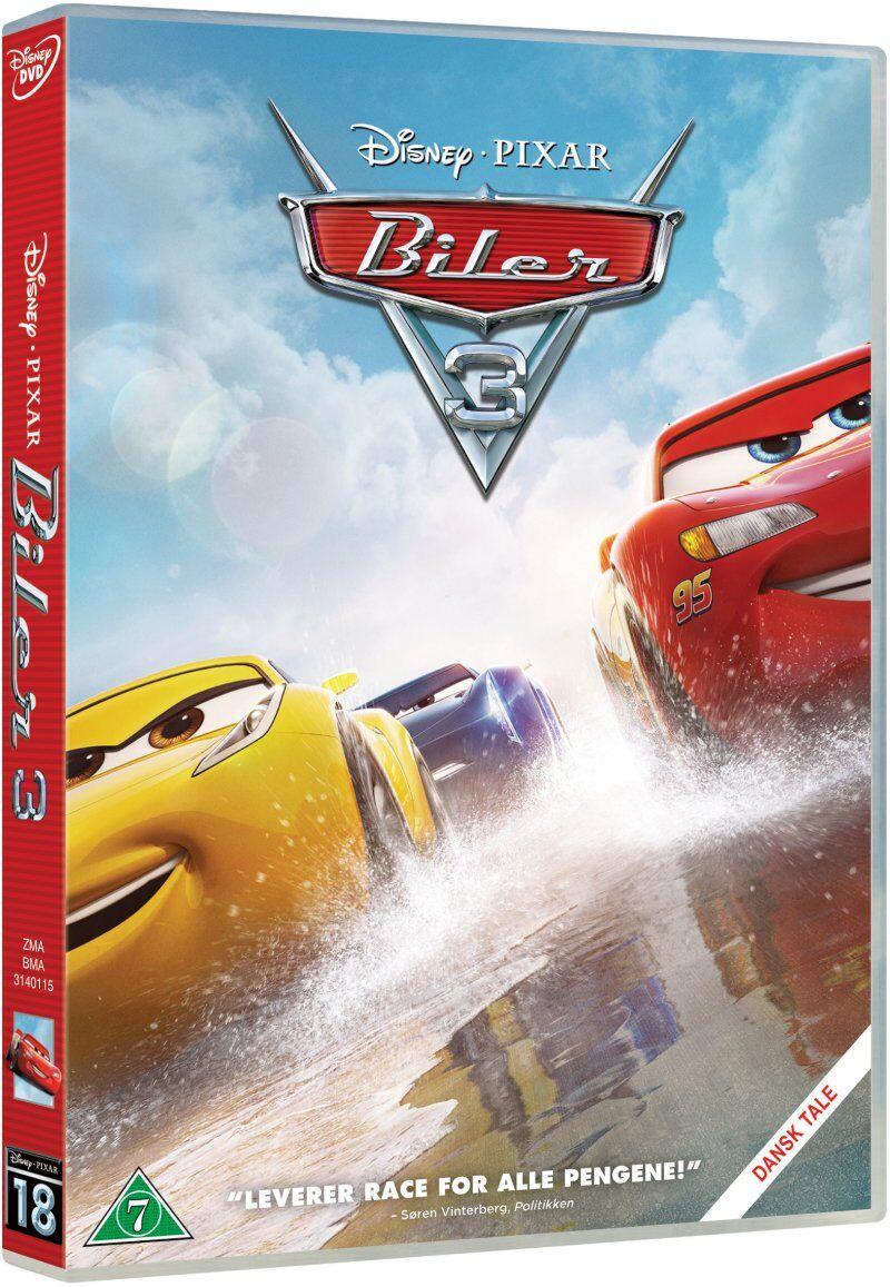 Disney Cars 3 / Biler 3 - Disney Pixar - DVD - Film